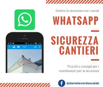 Whatsapp Sicurezza Cantieri