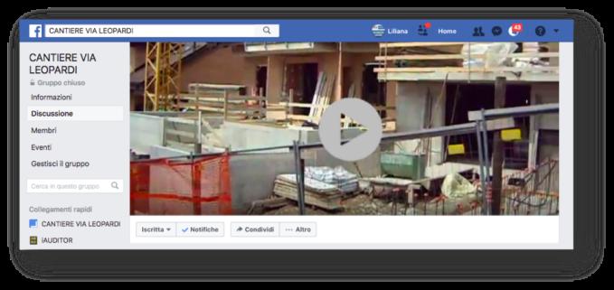 Gruppo > Cantiere > facebook