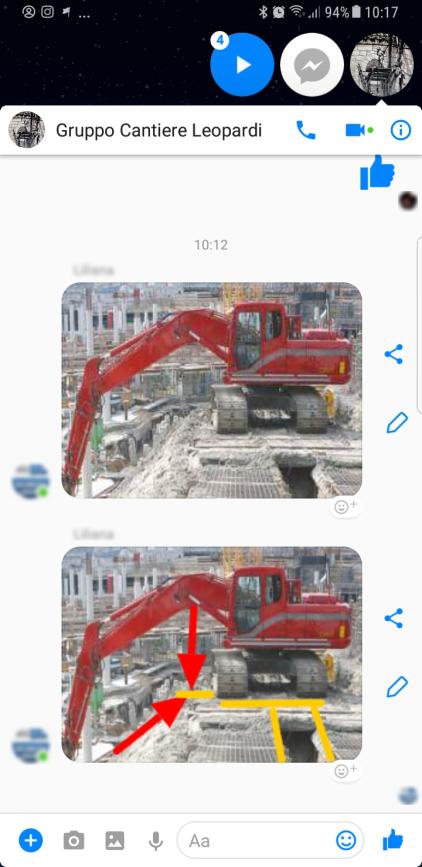 Direzione Lavori su Messenger